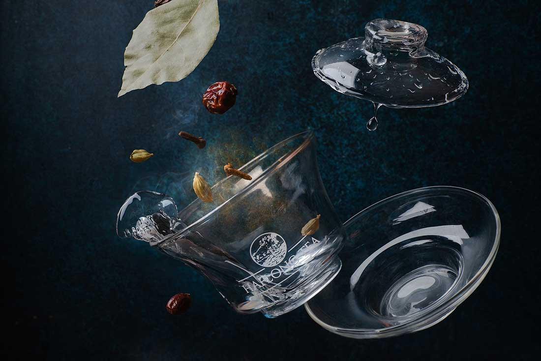 чай, кружка, стекло, лист, фудфото